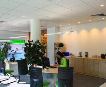 Lichtkonzept für Reisebüro