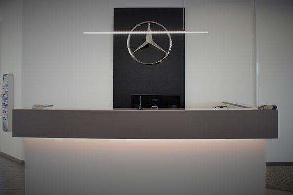 Lichtlandschaften für Mercedes Benz