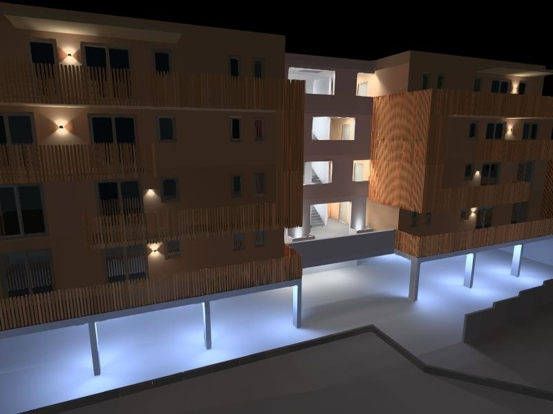 3D Ansicht der Fassade des HUB