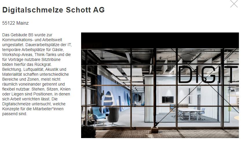 Tag der Architektur 2020, Digitalschmelze Schott AG Mainz